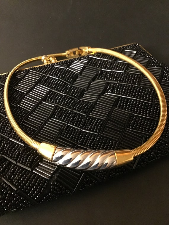 Vintage Givenchy Necklace Givenchy Gold Two Tone C