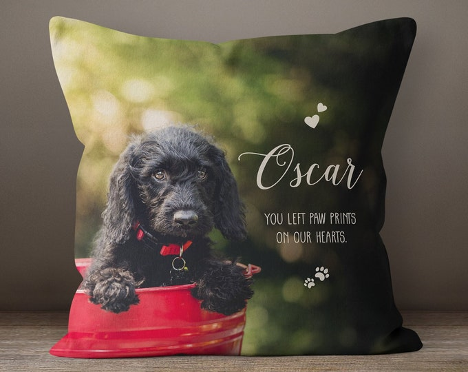 d309bbfb8447 Pet Memorial Pillow, Pet Loss Gift, Custom Dog Pillow, Dog Mom Gift