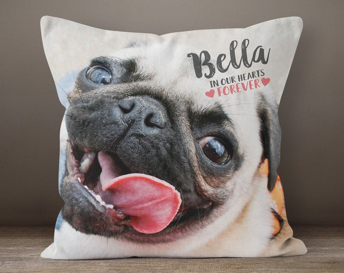 c55b0abf8785 Pet Memorial Pillow, Custom Pet Pillow, Pet Loss Gift, Dog Remembrance