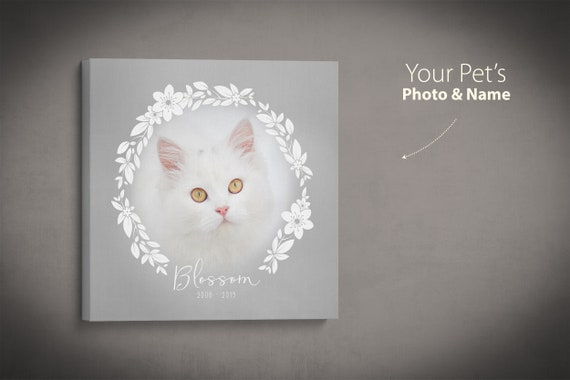 Pet Memorial Print, Cat Memorial, Pet Loss Gift, Cat Remembrance