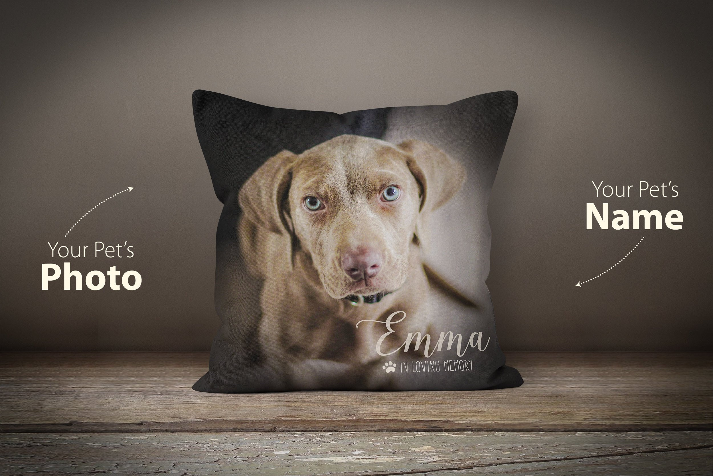b35761b992f8 Pet Loss Pillow, Dog Remembrance, Pet Memorial Gift, Custom Pet Pillow