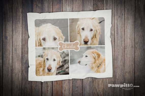 Pet Sympathy Gift, Photo Collage Blanket, Collage Dog Blanket, Pet Loss Gift, Custom Photo blanket, Pet memorial for Children, Dog Memorial