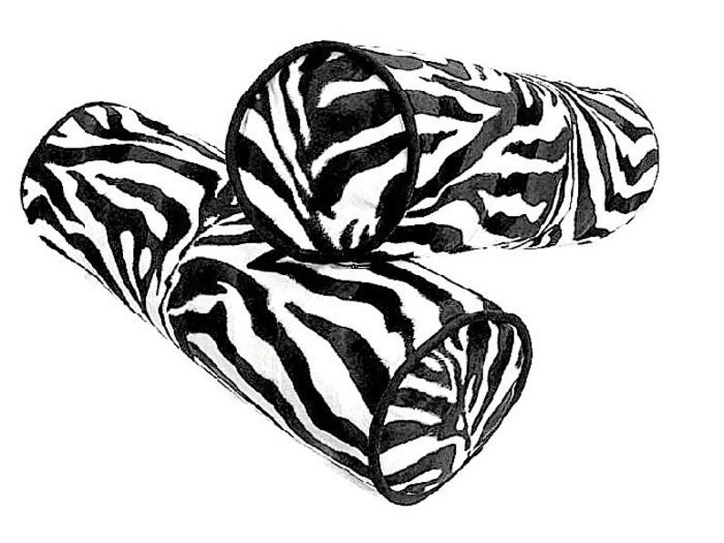 Black White Zebra Print Pillow Cover Velvet Bolster Cover