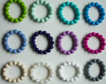 Chompy Silicone Teething Bracelets