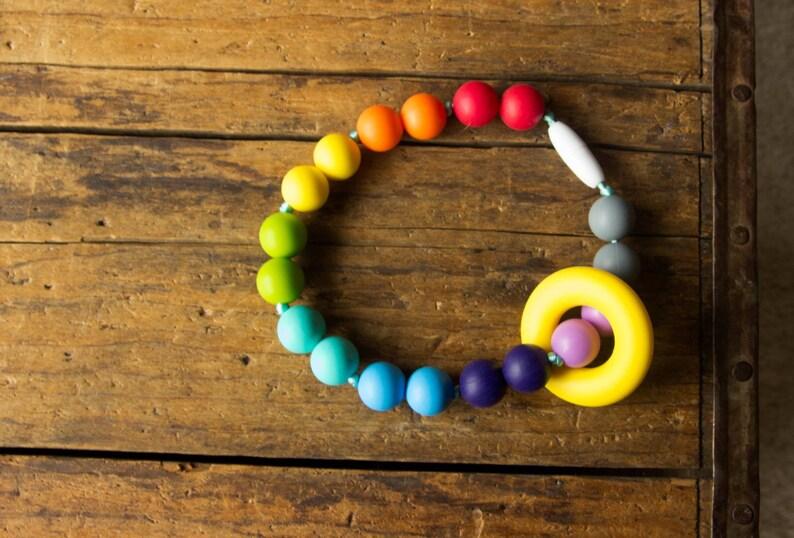 Chompy Silicone Ring Babywearing Teething Accessory image 0
