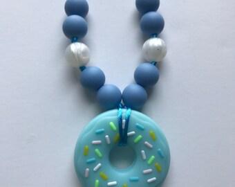 Chompy Kids Donut Necklace-Blue