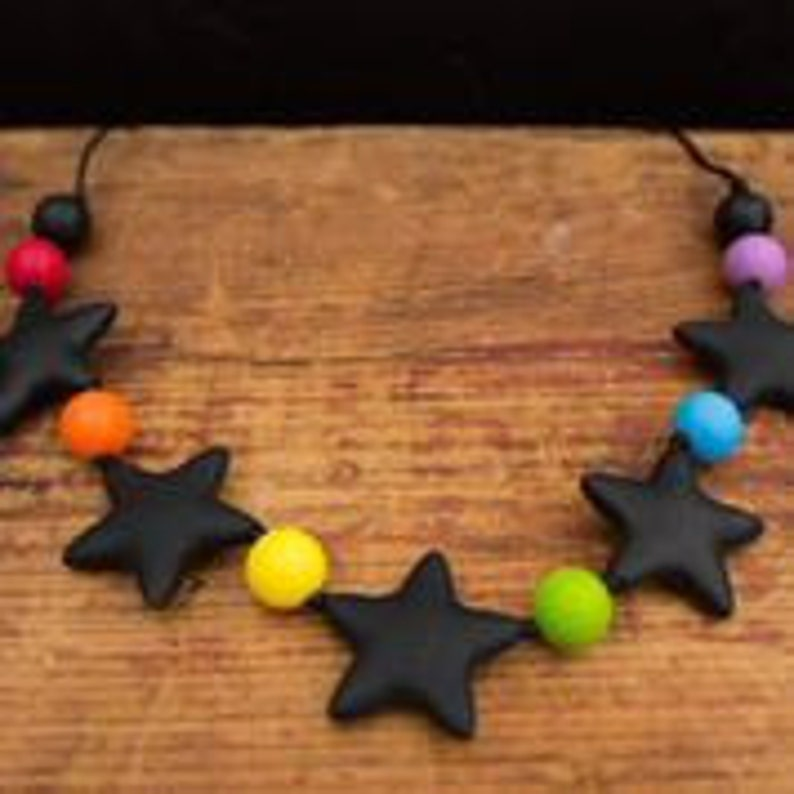 Chic 5 Star Silicone Teething Necklace image 0