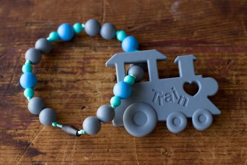 Chompy Train Babywearing Teething Accessory image 0