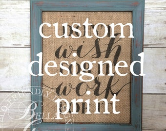 Custom Designed Fabric Art Print