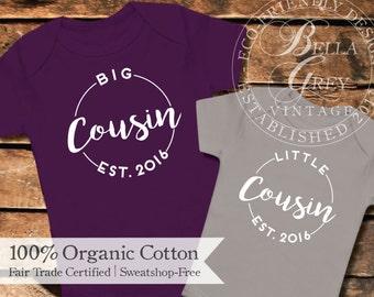 Big Cousin & Little Cousin - Cousins Make the Best Friends - Niece or Nephew Gift - Organic Cotton Baby Bodysuit - Gender Neutral Gift