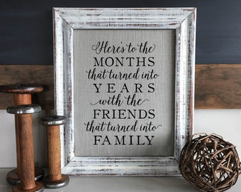 Christmas Gifts for Friends | Friendship Christmas Present | Best Friend Birthday | Months Turned into Years, Friends Turned into Family