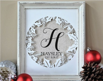 Personalized Christmas Gifts for Newlyweds - Gift for Wife Husband -