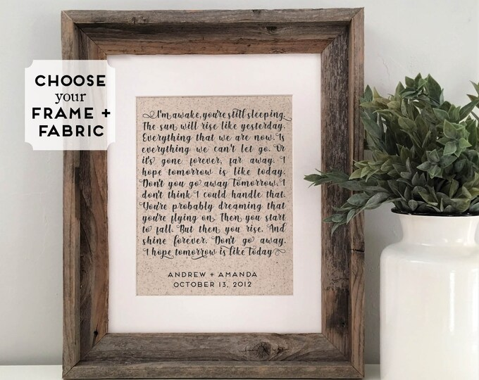 Featured listing image: First Dance Song Lyrics Print