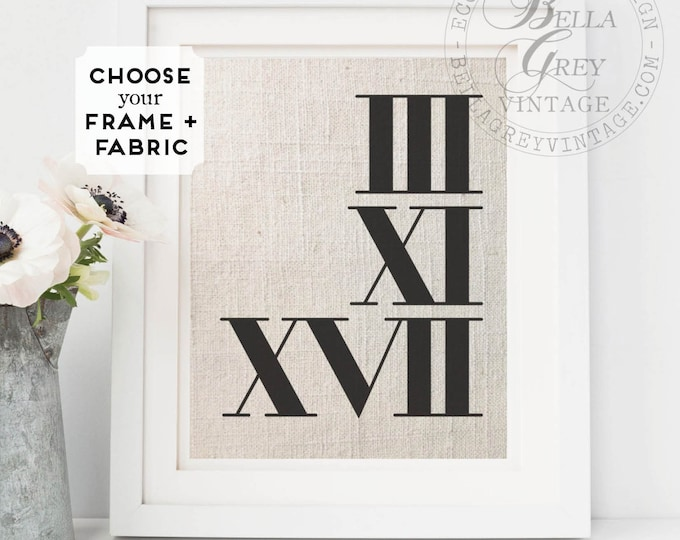Featured listing image: Roman Numerals Date Sign