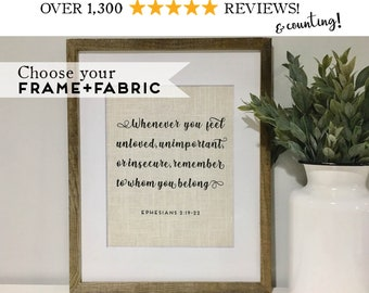Bible Verse Quote Framed Birthday Gift for Friend - Scripture Friendship Gifts - Christian Wall Art - Religious Gift for Husband or Wife