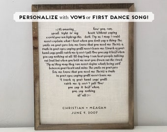 Heart Shaped First Dance Song Lyrics Print