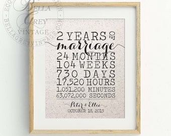 Personalized 2nd Cotton Anniversary Gift, 2 Year Wedding Anniversary Gift for Husband, Gift for Her, Gift for Wife, Couple Gift