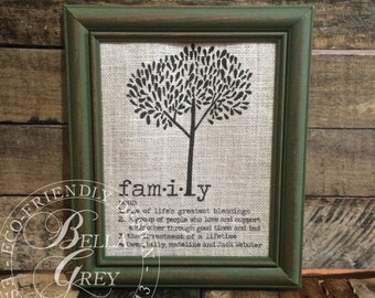 Gift for Family Friend - Unique Anniversary Gift - Housewarming Gift - Family Definition - Valentine's Day Gift for Mom