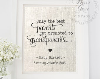 Only the Best Parents Get Promoted to Grandparents Print | Pregnancy Reveal Announcement | New Grandparents-to-be | Gift for Mom or Dad