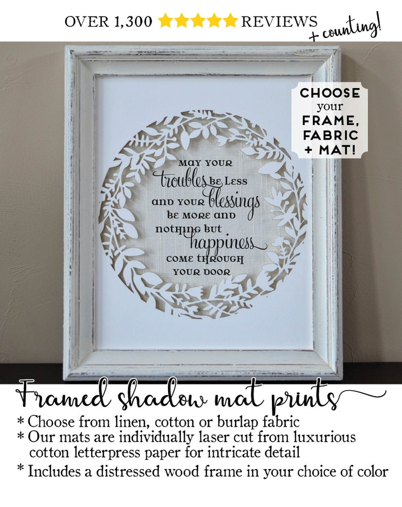 4bbbe87726087 Irish Blessing Housewarming Sign Friendship Gifts for Friend