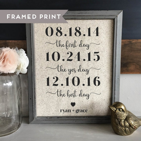 2nd Wedding Anniversary Gift.2 Year Anniversary Gift Cotton Print 2nd Wedding Anniversary Gift For Wife Personalized Couple Gift Wedding Gift For Her Bridal Shower