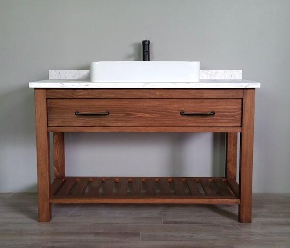 Essex Solid Wood Bathroom Vanity Etsy