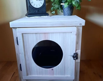 Jumbo Cedar Kitty Litter Cabinet - Front Entry Unfinished
