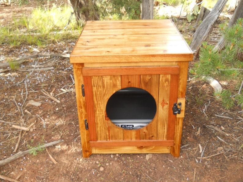Jumbo Cedar Kitty Litter Cabinet  Front Entry Golden Oak image 1