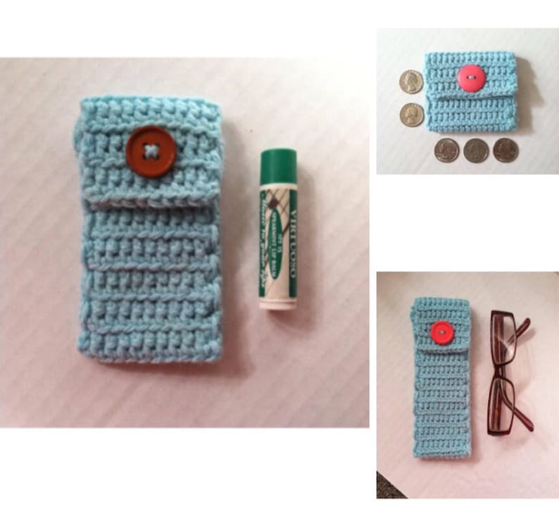 coin purse chapstick holder eyeglass case