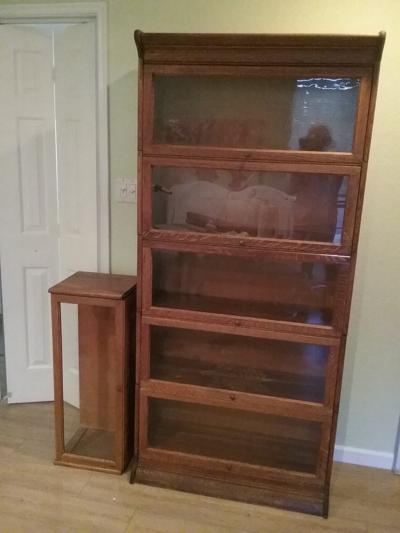 Sold Antique Stacking Bookcase Barrister Oak 6 Section Maceys Wernicke Mission Rare Excellent Condition