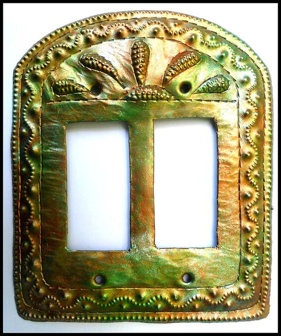 Metal Switch Plate, Light Switch Cover, Rocker Switch Cover, Iridescent,  Haitian Metal Art, Switch Plate Covers - HRS-106-2-IR