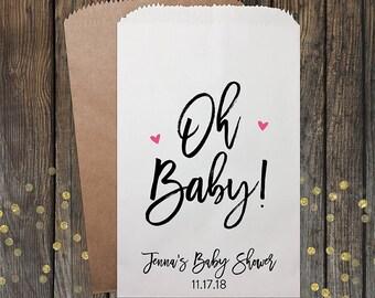 Baby Shower Favors, Girl Boy Baby Shower, Unique Baby Shower Favors, Candy Bar Buffet Bags, Popcorn Bag, Custom Baby Shower Favor, Kraft 345