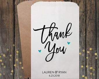 Thank You Wedding Favor Bags, Wedding Favors, Party Favors, Candy Bags, Treat Bags, Party Bags, Popcorn Bags, Custom Favor Bags, Kraft 339
