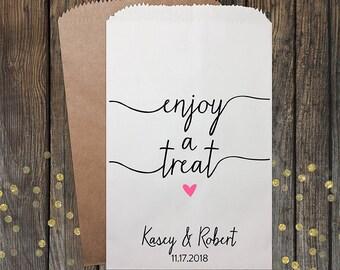 Wedding Favor Candy Bags, Candy Bar Bags, Wedding Candy Favor Bags, Personalized Candy Bags, Candy Buffet Bags, Treat Bags, Kraft #092
