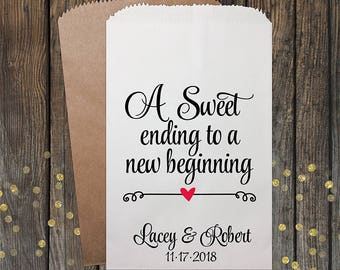 Wedding Favor Candy Bags, Personalized Candy Bags, Wedding Candy Bar Bags, Wedding Favors, Favor Bags, Treat Bags, Kraft #082