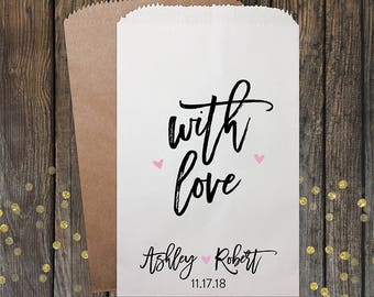 Wedding Candy Bags, Wedding Favors, Candy Bags, Candy Bar Bags, Rustic Wedding, Popcorn Bags, Custom Wedding Favors, Candy Bags, Kraft 343