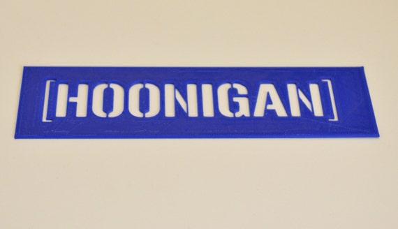 Hoonigan Urban Dictionary >> Hoonigan Stencil Etsy