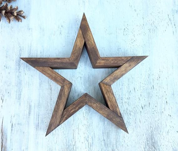 Wooden Star Wooden Star Decor Wall Decor Wall Star Art | Etsy