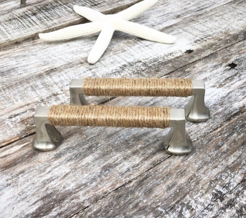Beach House Decorative Handles Rope Drawer Pulls Cabinet Etsy