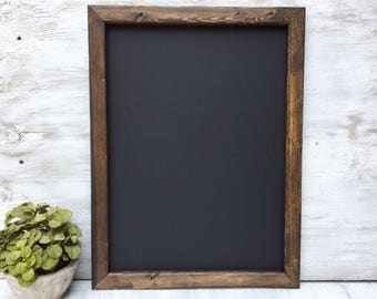 Rustic Framed Chalkboard Rustic Chalkboard Wedding Chalkboard Rustic Blackboard Menu Board Gift Ideas Gift For Her Gift For Mom 18x24