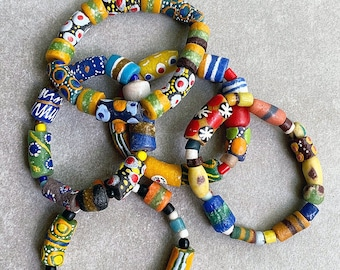 45 Teal Sandcast Beads SAND-RND-BLU-55 African Glass Beads Fair Trade Tribal Jewelry Making Supplies Made in Ghana **