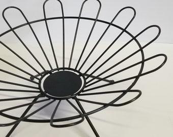 Mid century modern black wire tray/ fruit bowl - centerpiece