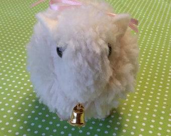 Easter Lamb Figurine Baby Gift Handmade Animal Wool Collectible