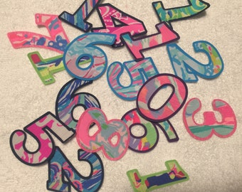 Iron on Lilly  inspired baby monthly numbers
