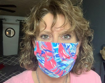 Designer Lilly obsessed fabric face mask in Get Crackin