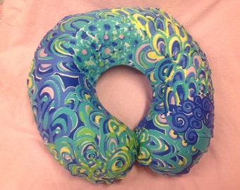 Lilly inspired Travel Neck pillow cover