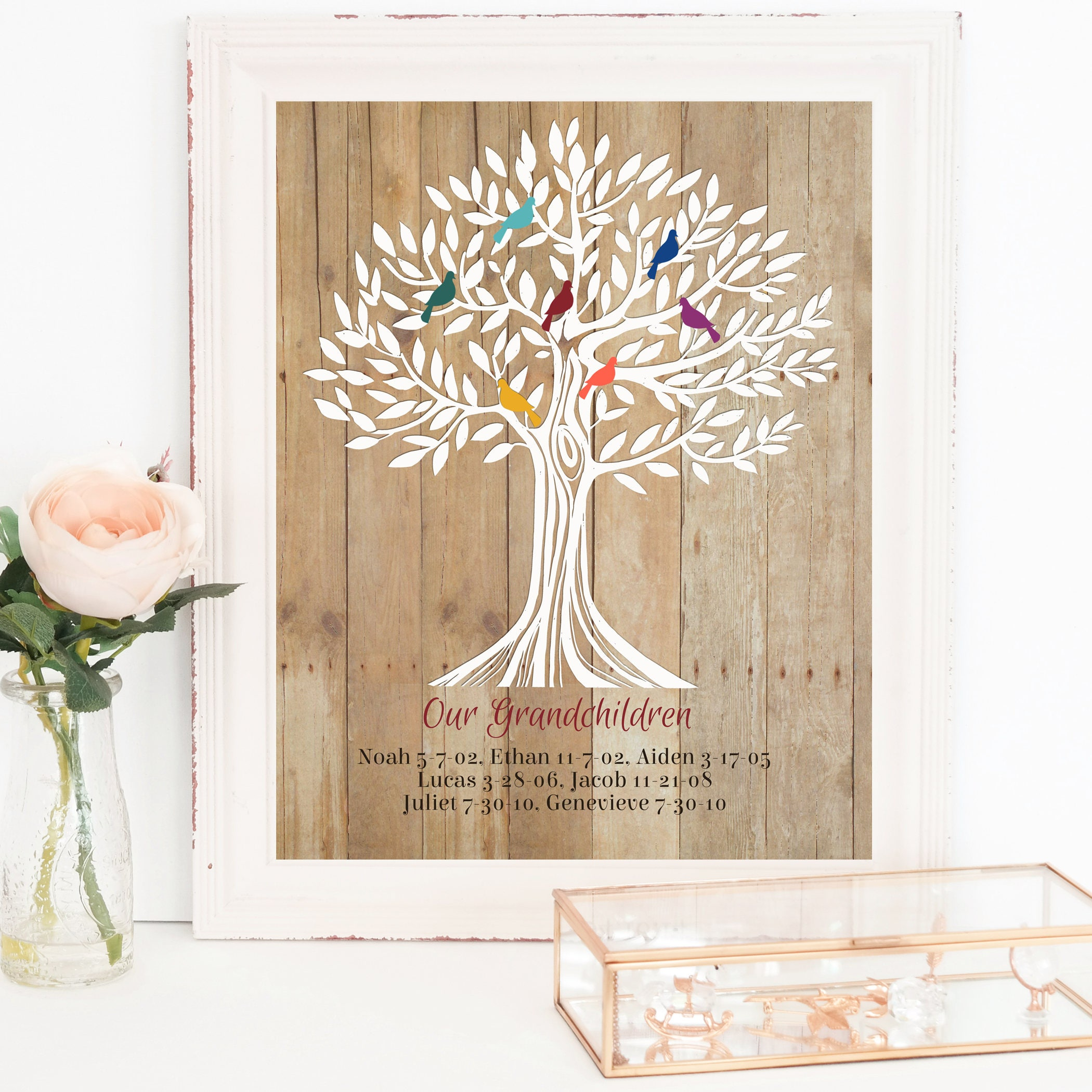 Family Tree Grandparents Gift Grandma Gift Christmas Gift ...