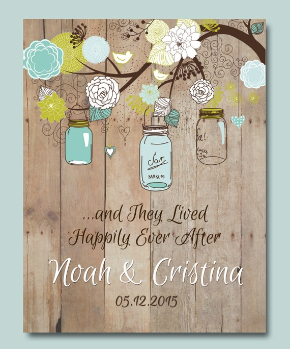 Unique First Wedding Anniversary Gifts: 1st Anniversary Gift Personalized Wedding Gift Mason Jar