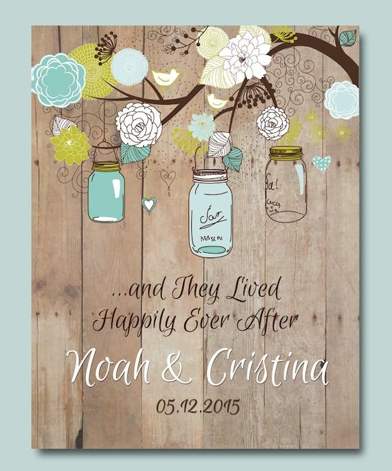 Etsy Wedding Gifts: 1st Anniversary Gift Personalized Wedding Gift Mason Jar