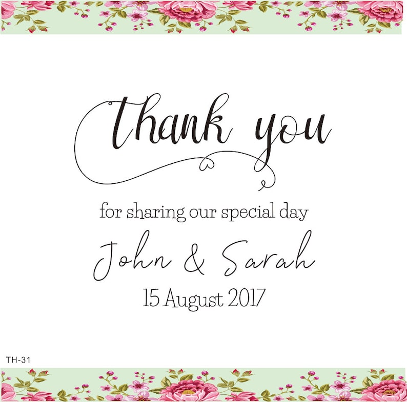 Thank You Stamp Custom Wedding Favor